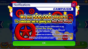red star rings images Sonic runners hits 500 000 players gives 50 free red star rings jpg