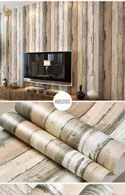 3d Wallpaper Home Decor Mediterranean Vintage 3d Textured Wood Striped Wallpaper Bedroom
