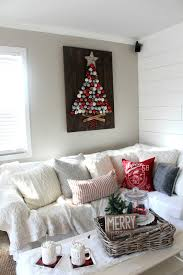 rustic diy holiday ornament display the glam farmhouse