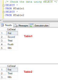 sql server compare tables sql server difference between union vs union all optimal