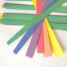 Paper Crafts - rainbow paper shamrocks st s day crafts for