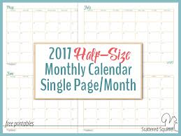 printable 2017 calendar two months per page 2017 half size monthly calendar printables