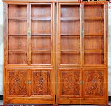 Showcase Glass Cabinet Solid Wood Display Cabinet Display Cabinet Elm Old Elm Tea Cabinet