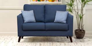 Buy Two Seater Sofa Buy Felix Two Seater Sofa In Blue Colour By Peachtree Online Two