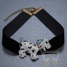 rhinestone choker collar necklace images Dog black velvet ribbon choker collar necklace and crystal rhinestone jpg