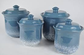 Kitchen Canisters Blue by 28 Blue Kitchen Canister Sets Set Of 4 Vintage Blue Glass