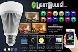 bluetooth led light bulb app color change