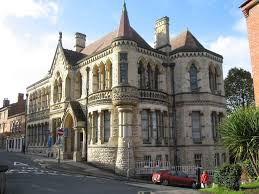 victorian building hibernia in stroud glocestershire uk