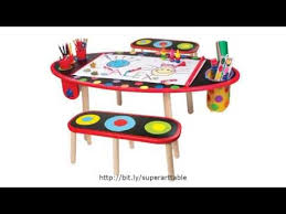 Kidkraft Table With Primary Benches 26161 Alex Toys Artist Studio Super Art Table With Paper Roll Childrens