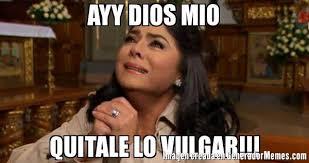 Vulgar Memes - ayy dios mio quitale lo vulgar meme de victoria ruffo llorando
