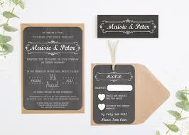 wedding invites chalkboard wedding invitations bundle norma dorothy