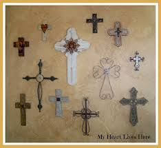 crosses for wall the new cross wall my heart lives here