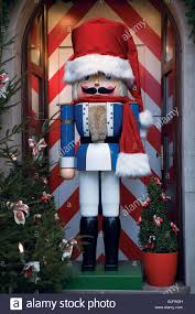 a life size toy soldier christmas window display rothenburg ob de