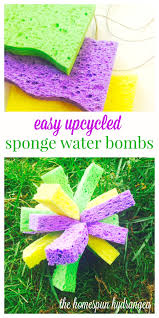 simple and fun sponge water bombs craft for kids the homespun