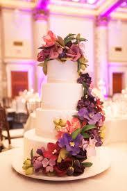 colorful purple flower wedding cake elizabeth anne designs the