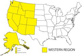 United States Regions Map by Western Region Apwu