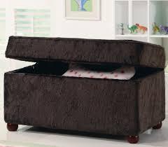 storage ottoman bench brown kids storage bench in fuzzy brown fabric storage ottoman bench