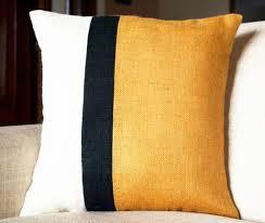 Burlap Decorative Pillows Shop Online For Handmade Mustard Euro Sham Burlap Throw Pillow