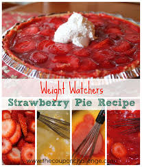 weight watchers thanksgiving weight watchers strawberry pie
