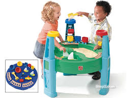step 2 sand and water table step2 sand and water transportation station double the fun moms