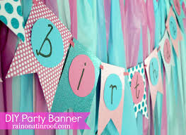 party banner easiest diy birthday banner part 2 on a tin roof