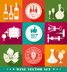 wine vector free vectors drink illustration of vine color flat icons holidays