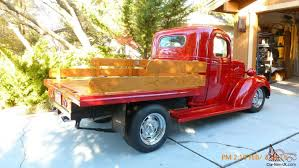 wooden pickup truck chevy custom truck restomod flatbed with oak wood bed and rails
