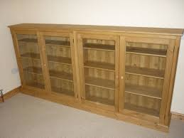 long low glazed bookcase bookcases pine oak painted and
