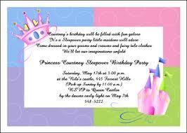 free slumber sleepover party invitation wording idea samples