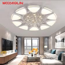 k9 crystal led ceiling light remote control dimming livingroom