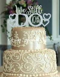 rhinestone cake 10th wedding anniversary we still do vow renewal rhinestone