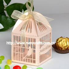 customized wedding favour candy boxes bird cage paper favours box