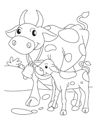 cow mother with its calf coloring pages download free cow mother
