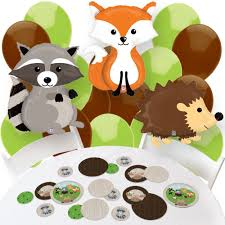 amazon com woodland creatures confetti and balloon baby shower