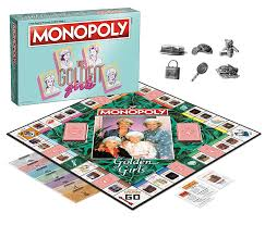 amazon com usaopoly the golden girls monopoly board game toys