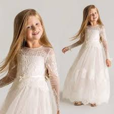 vintage communion dresses vintage girl communion dresses sheer neck sleeves lace