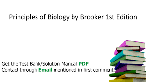 practice test bank for principles of biology by brooker 1st