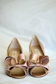 blush wedding shoes blush bridal shoes with bows elizabeth designs the wedding