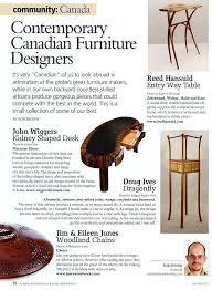 wiggers custom furniture ltd canadian woodworking magazine