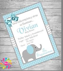 elephant baby shower invitations etsy invitación baby shower elefante para niño de ideasglint en