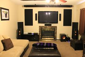 size of home theater living room with big screen tv my web value