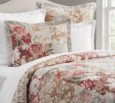 carolina floral patchwork reversible quilt sham pottery barn