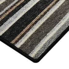 Striped Runner Rug Carpet Floor Runner Broadway Grey Custom Size