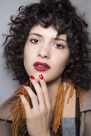 hairstyle for50 with a fringe curly hairstyles fringe justswimfl com