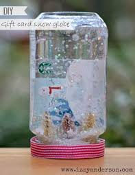 gift card snow globe write snap scrap creative gift cards inside a snow globe