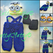 halloween costumes minion despicable me minion for boy crochet hat overrall boots