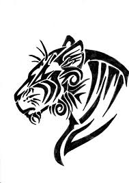 tribal tiger by greenyfoxy on deviantart