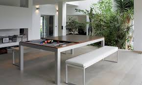 pool table dinner table combo this classy dining table hides a pool table underneath also