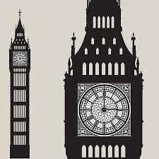 big ben wall sticker clock by funky little darlings big ben wall sticker clock big ben design