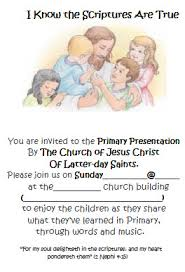 primary program invites church calling primary
